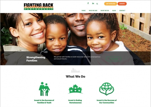 The Fighting Back Partnership designed their site with Morweb's nonprofit and association website builder.