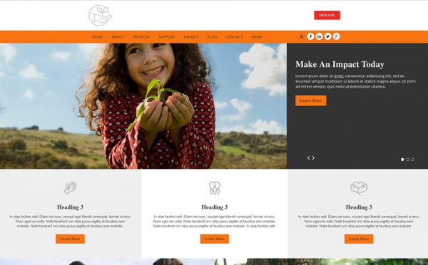 <p>Nature environmental nonprofit website theme.</p>
