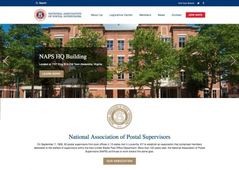 The National Association of Postal Supervisors' website was designed with Morweb's nonprofit and association website builder.