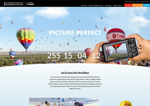 Balloon Fiesta association website design by Morweb