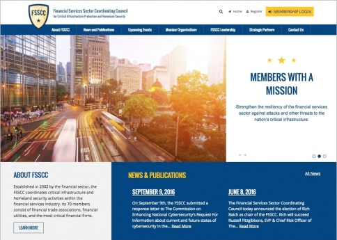 The Financial Services Sector Coordinating Council nonprofit website, designed with Morweb's powerful association web design tools.