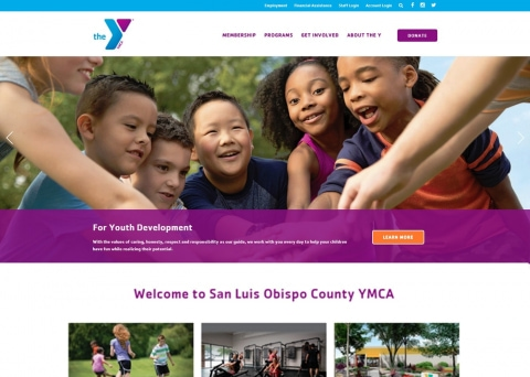 YMCA of SLO County nonprofit website design by Morweb