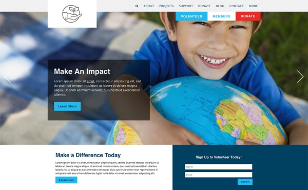 <p>Earth environmental nonprofit website theme.</p>
