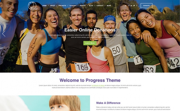 <p>Progress nonprofit health website theme.</p>