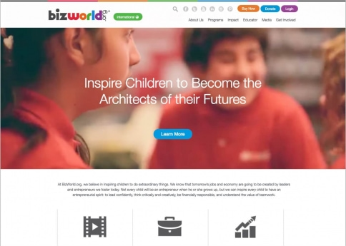 Bizworld used Morweb's nonprofit and association website builder to design their website.