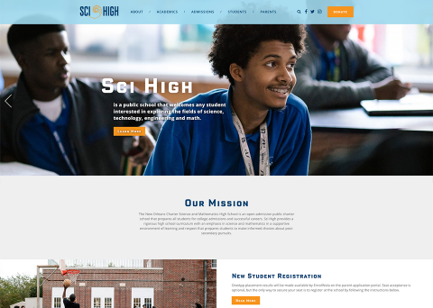 Sci High School Website Design by Morweb