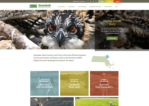 Nonprofit Website Design - Greenbelt by Morweb