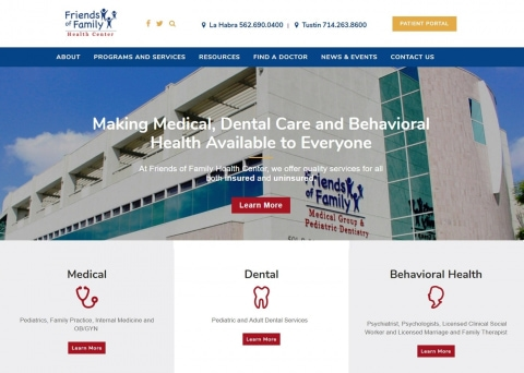 The Friends of Family Health Center used Morweb as their nonprofit website builder.