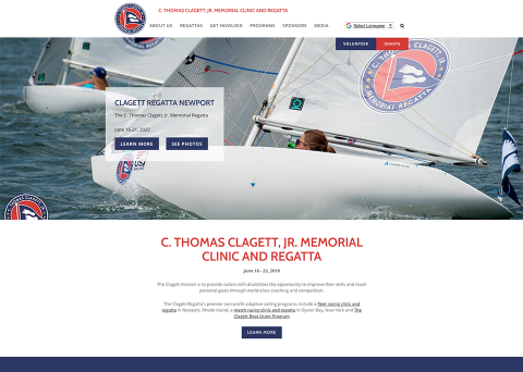 Clagett Regatta nonprofit website design by Morweb