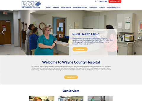 Wayne Hospital Nonprofit Web Design by Morweb