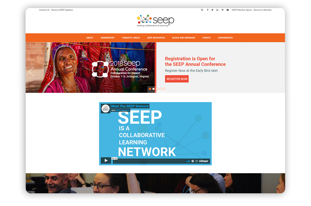 Videos and images association website example: The SEEP Network