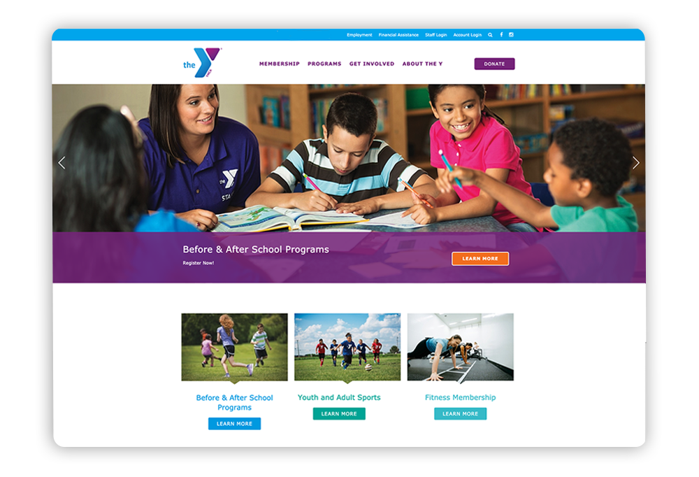 Strong nonprofit website example