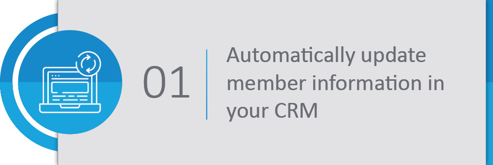 Automatically update member information in your CRM.