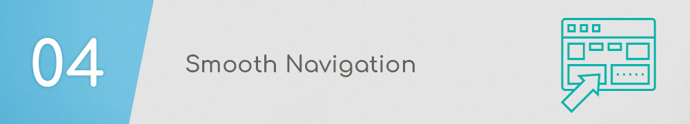 Smooth navigation should be at the center of your medical website design strategy.