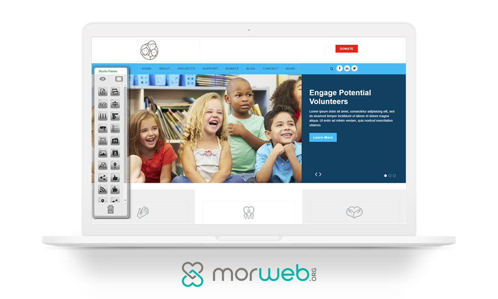 Digital marketing for nonprofits: Morweb CMS