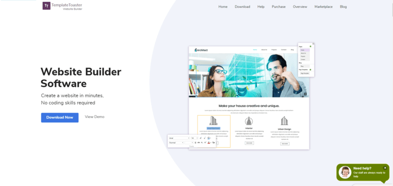 TemplateToaster is a top membership website builder because you can work offline.