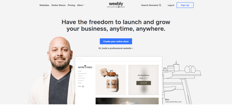 Weebly is a top membership website builder because of its eCommerce capabilities.