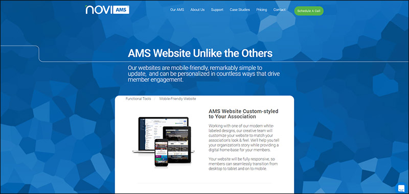 Check out Novi AMS, a top membership website builder for associations.
