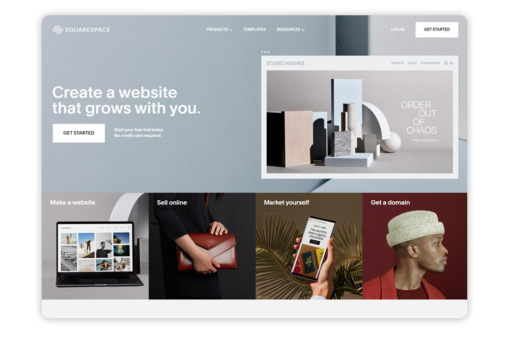 Check out Squarespace's education website builder for teachers and schools.