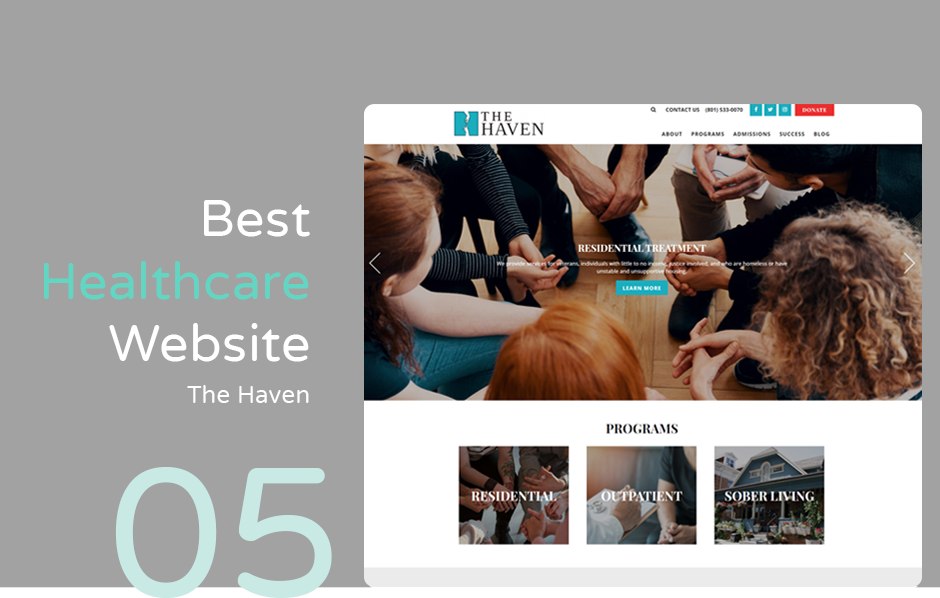 Best hospital website: The Haven