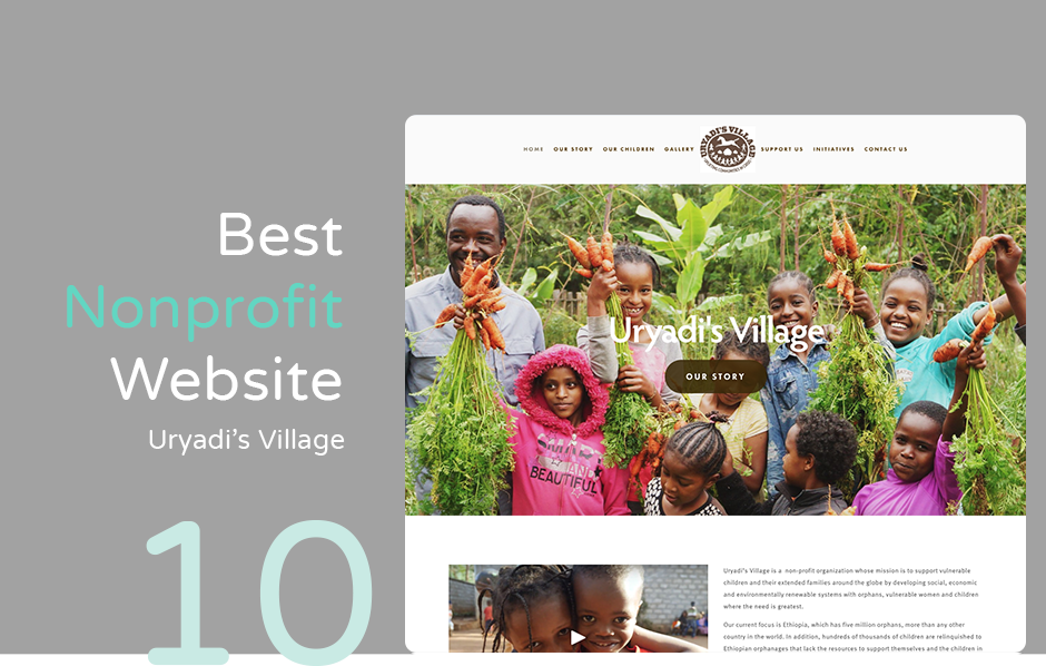 Uryadi's Village has one of the best nonprofit websites using Squarespace.