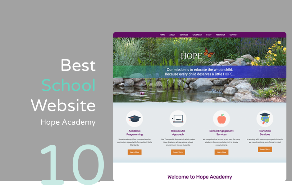 Best school website: Hope Academy