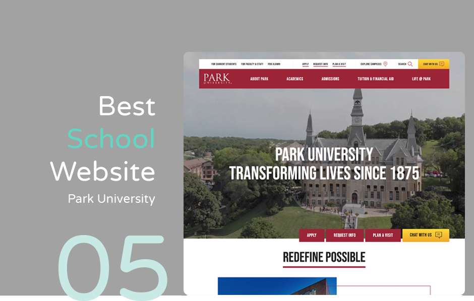 Best school website design: Park University