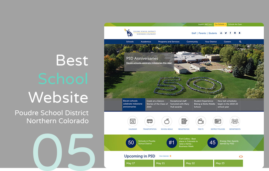 Best school website: Poudre School