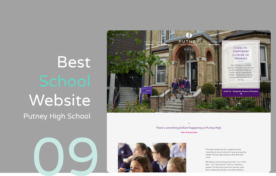 Best School Website: Putney High School