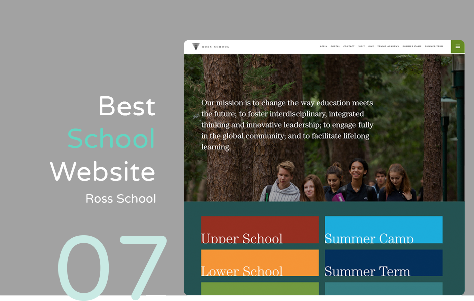 Best school website: Ross School