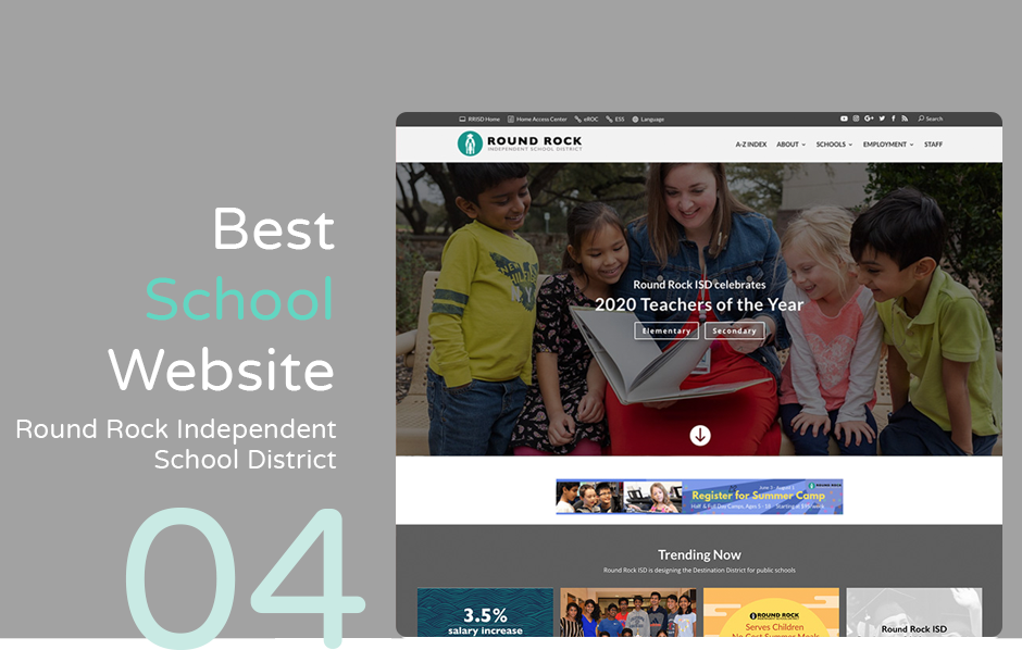 Best school website: Round Rock Independent School District