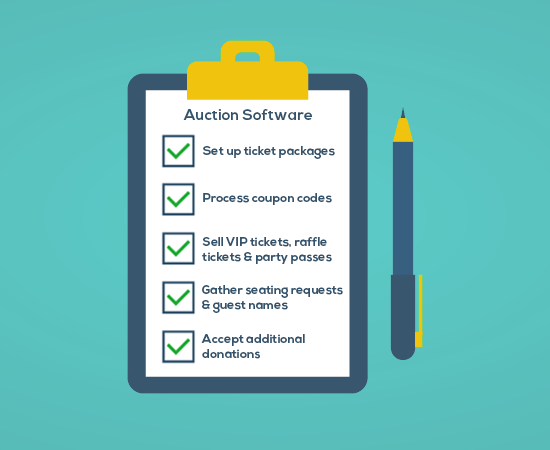 Charity auction software checklist