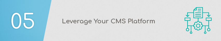 Design your donation page through your CMS platform.