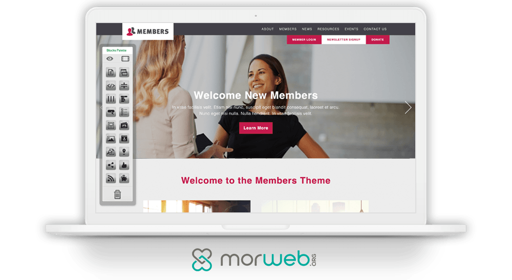 When learning how to build a membership website, check out Morweb's intuitive CMS.