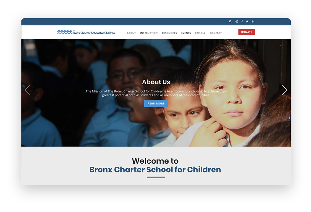 Nonprofit website story example