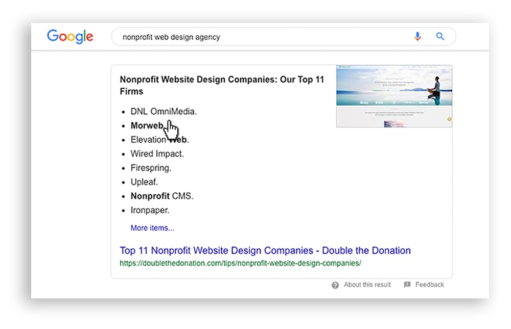 List of nonprofit web development firms