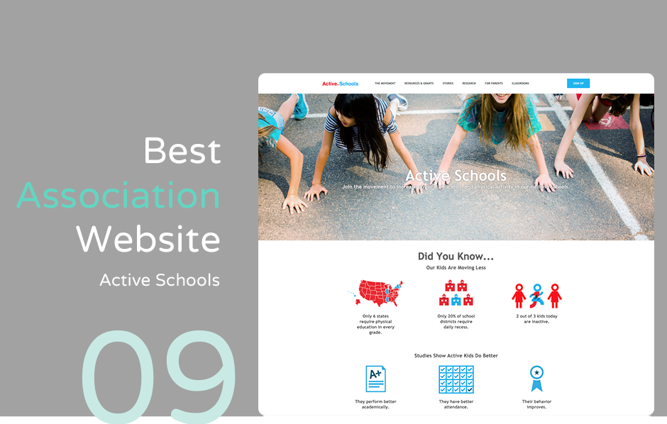 Top association website: Active Schools