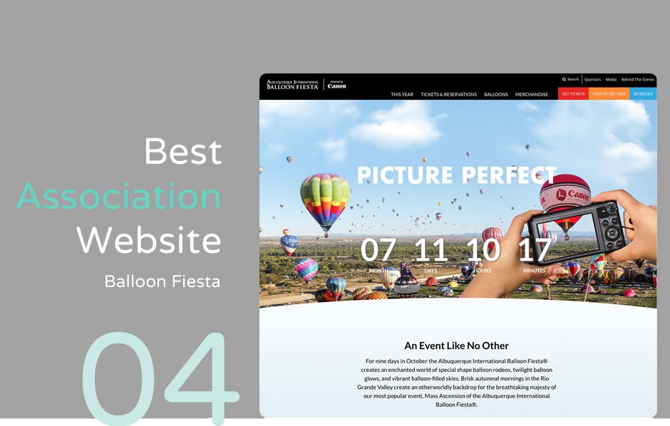 Top association website: Balloon Fiesta
