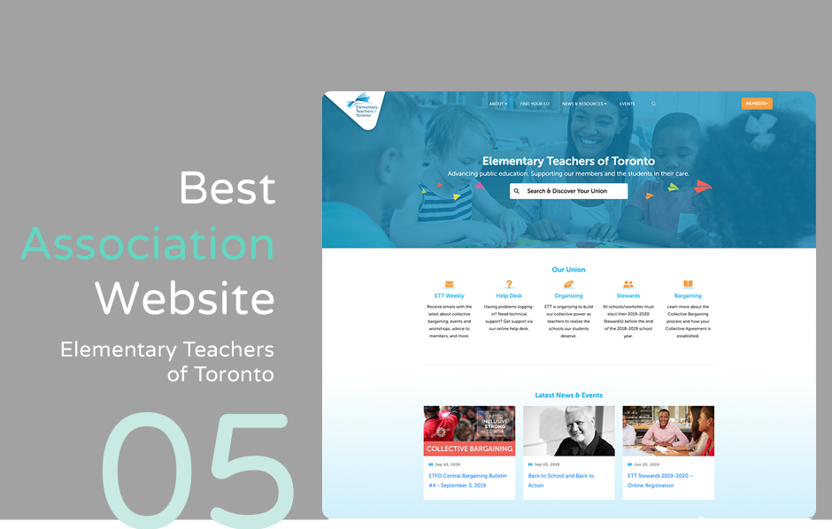 Top association website: Elementary Teachers of Toronto