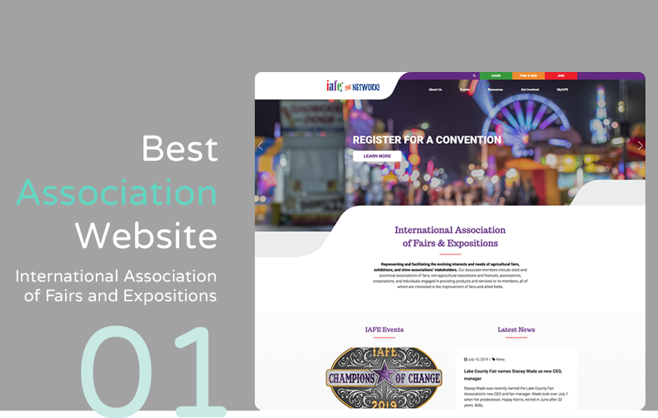 Top association website: International Association of Fairs and Expos
