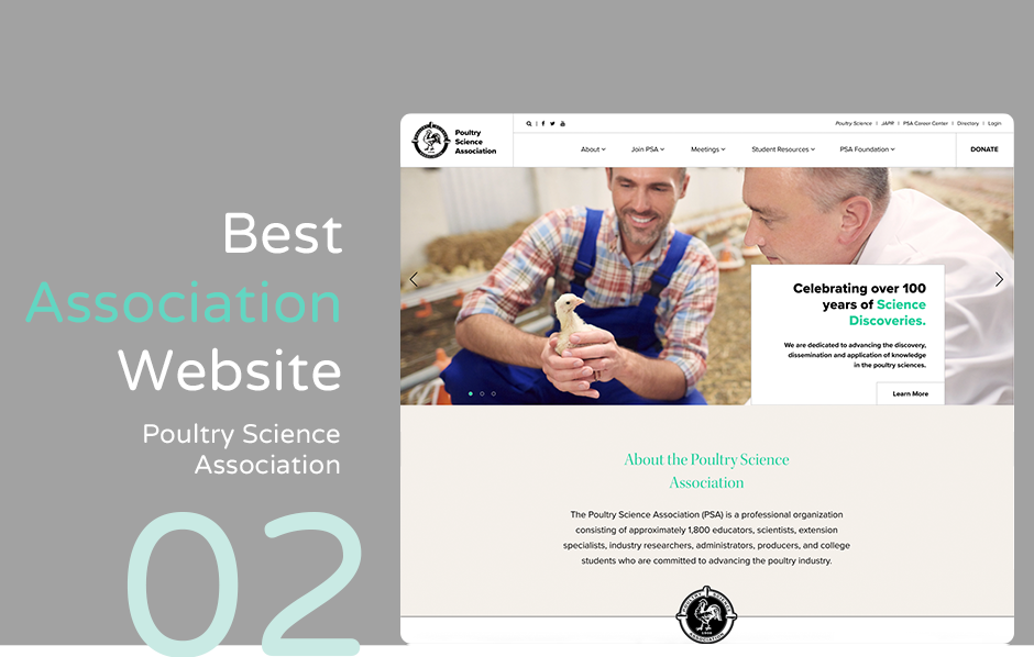Top association website: Poultry Science Association