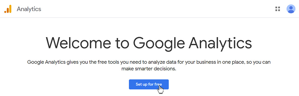 Welcome to Google Analytics