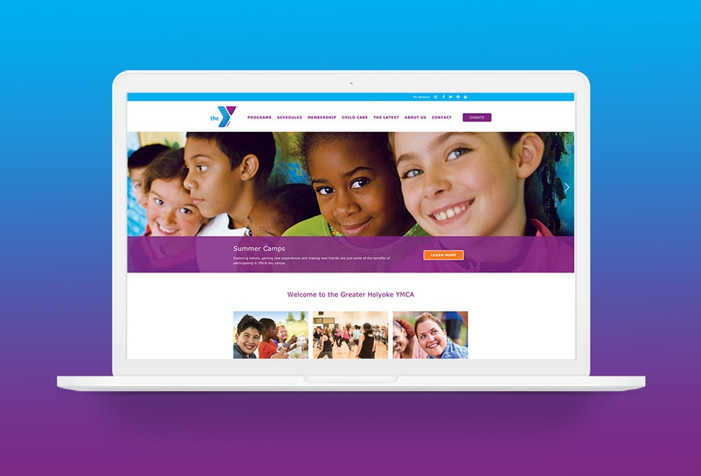 YMCA website design template