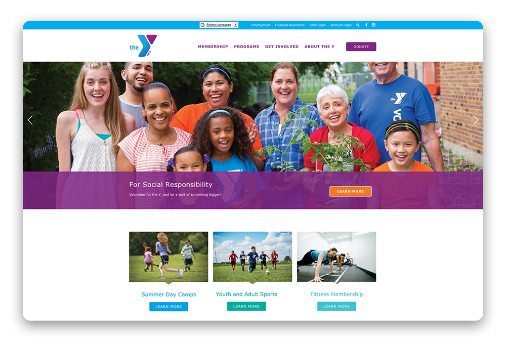 San Luis Obispo County YMCA website design