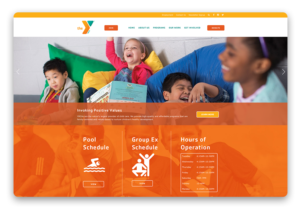 Santa Maria Valley YMCA website design